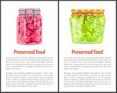 Preserved Food Poster Lime Or Lemon And Sweet Cherries Home Cooked Jam Or Marmalade In Small Glass J poster