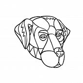 Mosaic Low Polygon Style Illustration Of Head Of A Black Lab, Labrador Retriever, Or Retriever-gun D poster