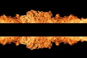 Fire stripe with free space for your text