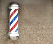 Barber's pole with space for text