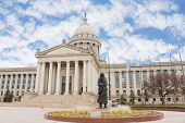 picture of indian money  - Oklahoma City capitol building and statue - JPG