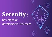Serenity Vector Outline Icon.ethereum 2.0 Cryptocurrency, Payment, Crypto Currency, Blockchain Butto poster