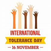 November Tolerance Day Concept Background. Flat Illustration Of November Tolerance Day Concept Backg poster