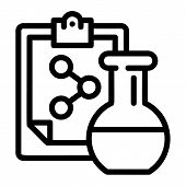 Chemical Flask Formula Icon. Outline Chemical Flask Formula Icon For Web Design Isolated On White Ba poster