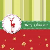 pic of rudolf  - Vector Christmas greeting card - JPG