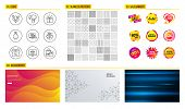 Seamless Pattern. Shopping Mall Banners. Set Of Bell, Sale And Online Shopping Icons. Special Offer, poster
