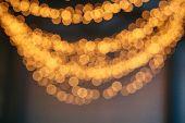 Defocused Christmas Lights Background. Christmas Background. Bokeh Background poster