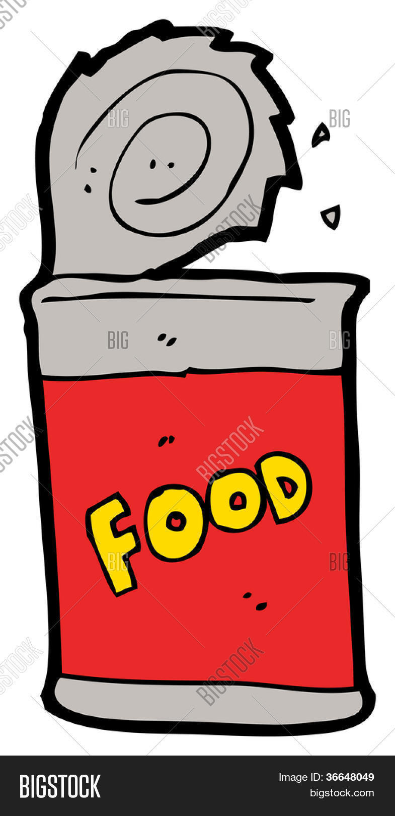 Cartoon Canned Food Image & Photo | Bigstock