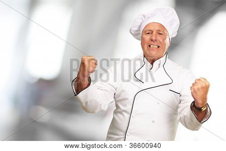 Portrait Of Angry Chef, Indoor