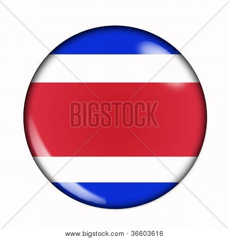Button Flag Of Costa Rica