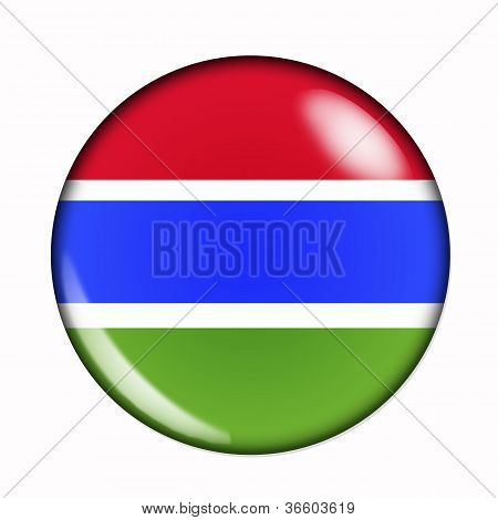 Button Flag Of Gambia