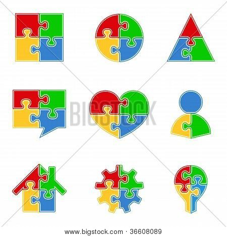 Abstract puzzle objects