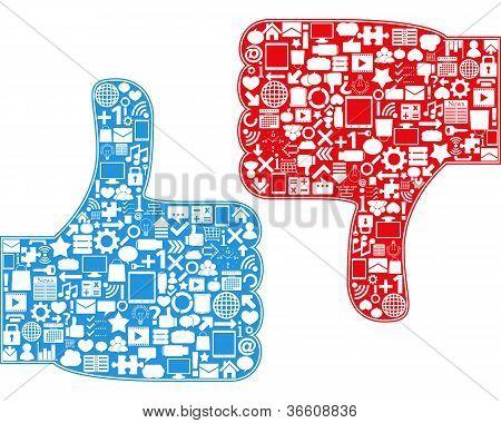 Thumbs Up/Down Symbols