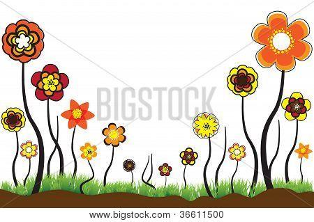 schöne Abbildung der saisonalen Blüten im Sommer oder Frühjahr Zeit. Diese bunte Blumen-ar
