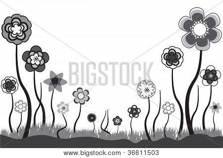 schöne Abbildung der saisonalen Blüten im Sommer oder Frühjahr Zeit. Diese Blumen sind in Tonnen