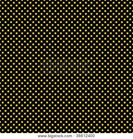 Seamless Yellow Dots on Black