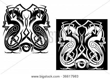 Stork In Celtic Style