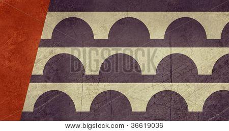 Bandeira do grunge da cidade de Des Moines, nos EUA
