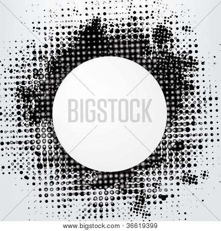 Grunge Background With Speech Bubble, Vector Illustration