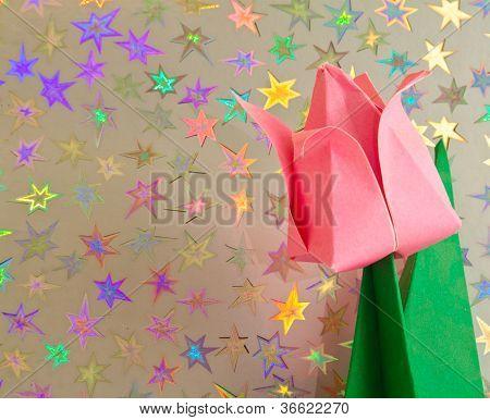 Pink Origami Tulip