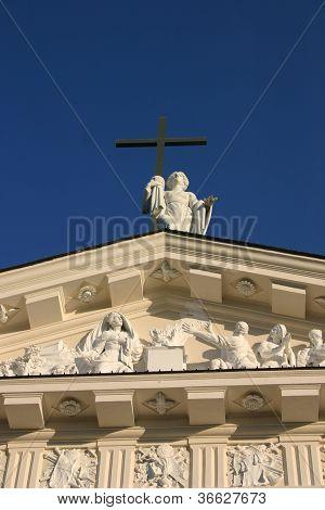 Facade Of Vilnius Cathedral