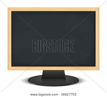 Computer monitor with blackboard instead of screen