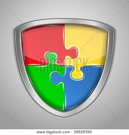 Puzzle shield