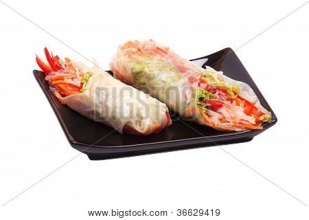Summer Roll , Salad Roll , Fresh Spring Roll , Vietnamese Food