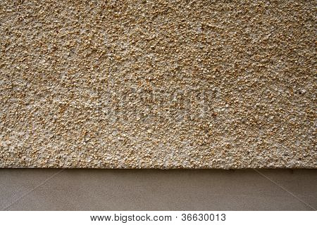 Pebbledash And Concrete Wall Render