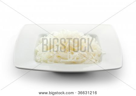 Cellophane noodles on a White Plate