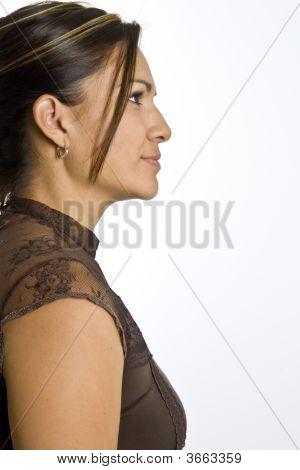 Hispanic Woman Posing