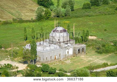 view of the Lead Mosque, an Ottoman architecture in Shkoder a city in northwestern Albania