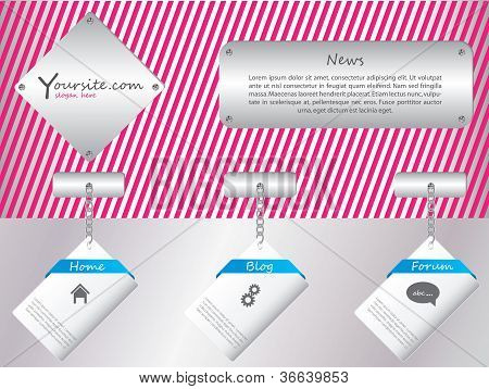 Hanging Labels Web Template Design