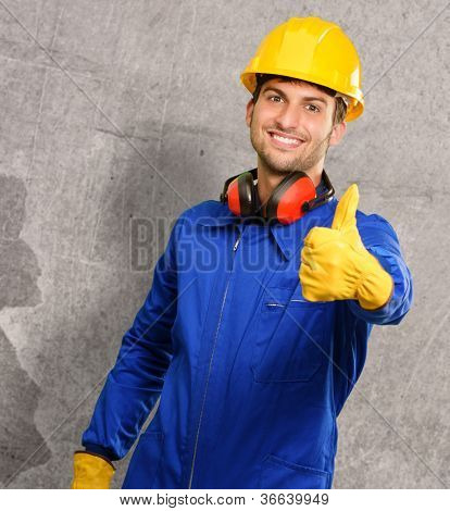 Engineer With Thumps Up, Indoor