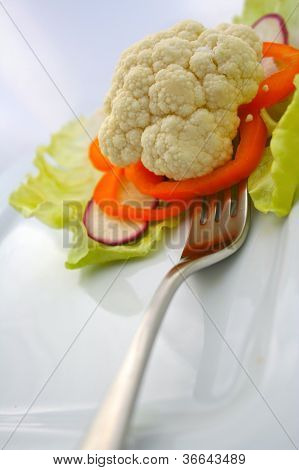 Garden Fresh Cauliflower Salad