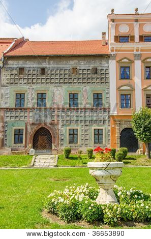 Levoca, Slovakia - Old house in main marketplace