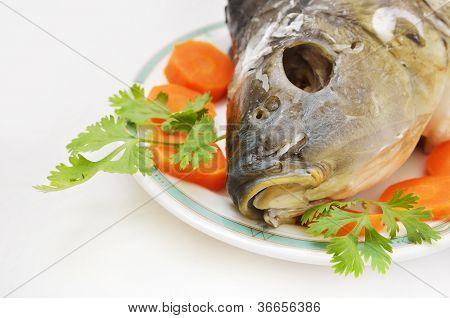 Head Of Fish As Jewish New Year Symbol