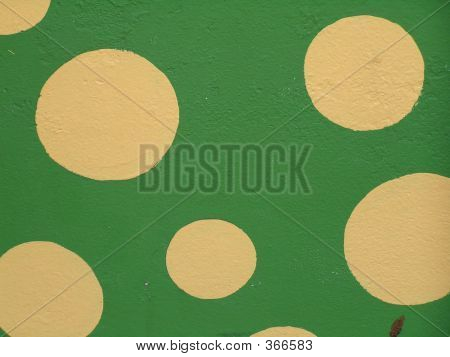 Polka Dots On Stucco Wall