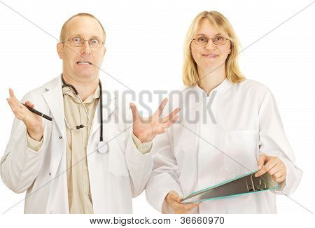 Two Doctors Arguing