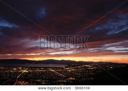 Dusk At Utah Valley