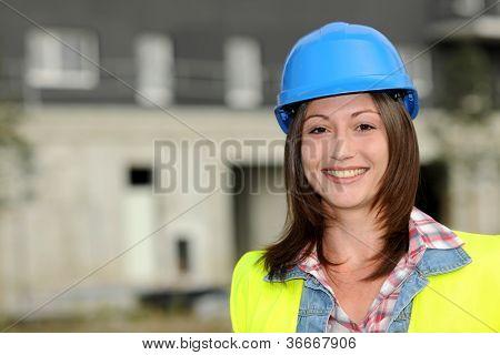 Portrait of smiling constuction worker