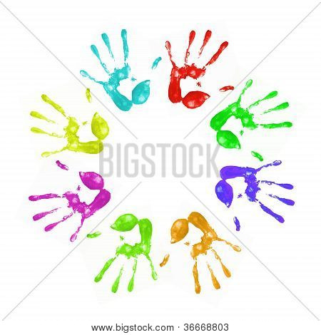 bemalte handprints