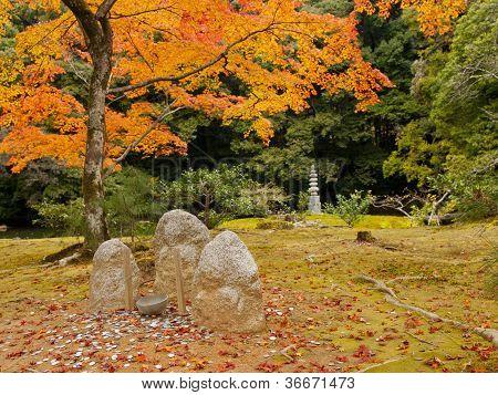 Stone Statuary At Kinkakuji Temple