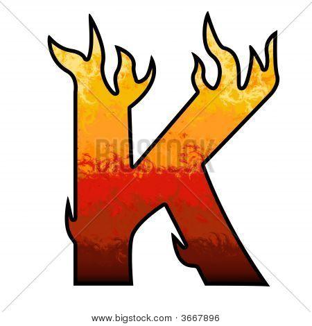 Flames Alphabet Letter