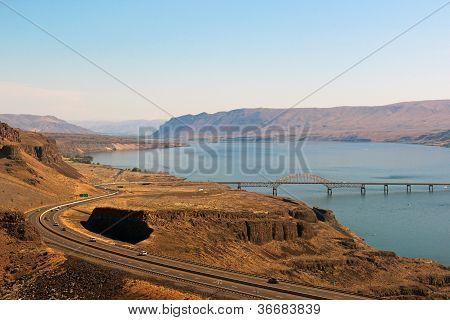 weergave van Columbia river