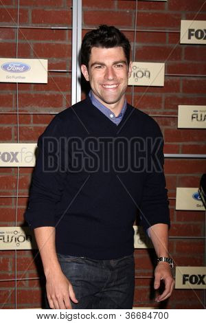 LOS ANGELES - SEP 10:  Max Greenfield arrives at the FOX Eco-Casino Party 2012 at Bookbindery on September 10, 2012 in Culver City, CA