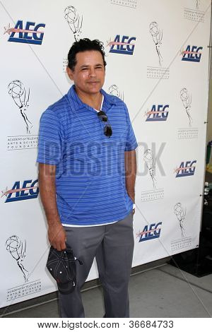 LOS ANGELES - SEP 10:  Raymond Cruz arrives at the 13TH PRIMETIME EMMY CELEBRITY TEE-OFF at Oakmont Country Club on September 10, 2012 in Glendale, CA