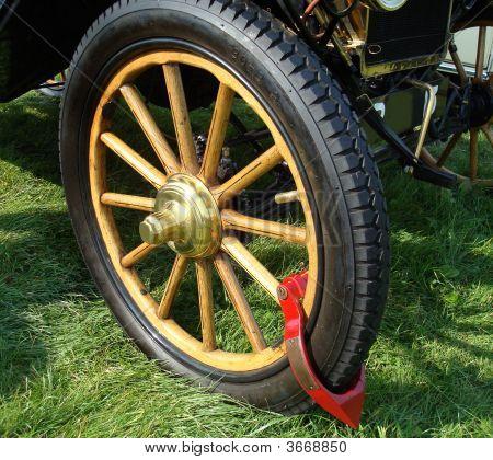 Antique Car Wheel