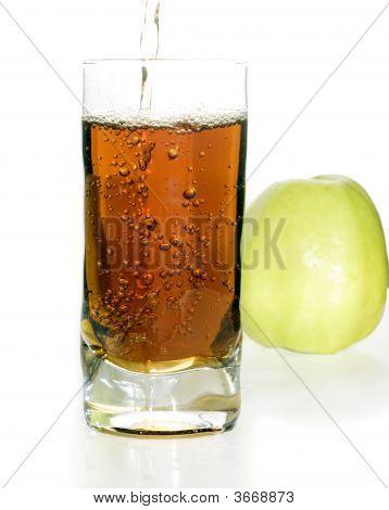 Freshness Apple'S Juice Over White