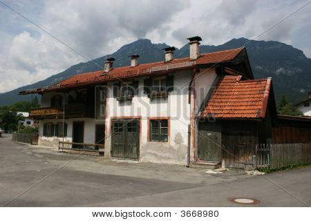 Bavaria/Germany - Typical House In Garmisch-Partenkirchen
